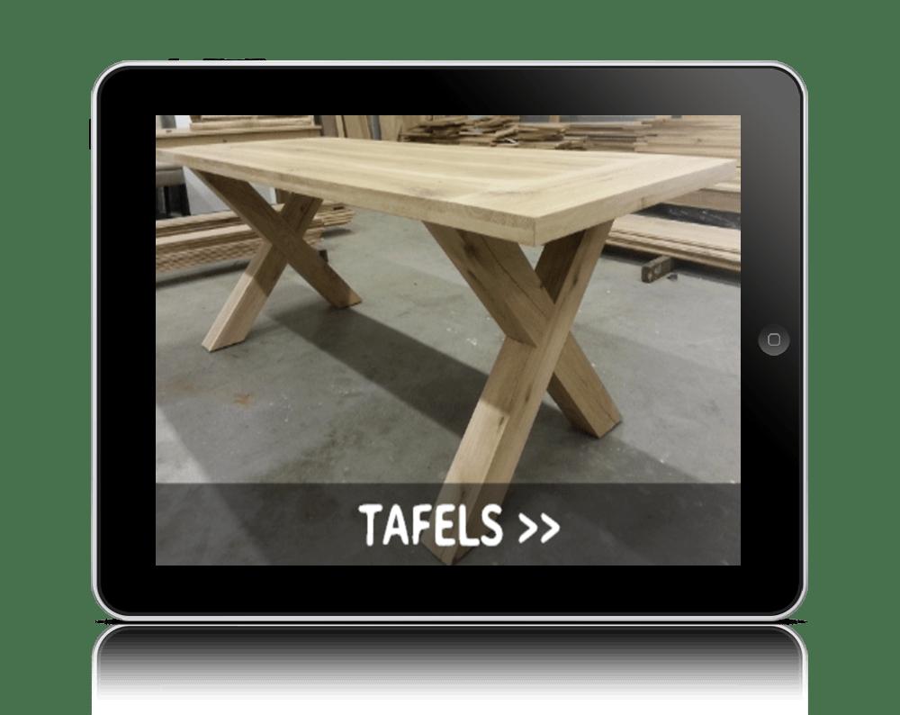 Zelf een kloostertafel maken met een bouwtekening lees for Zelf tafel maken
