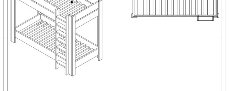 bouwtekening stapelbed
