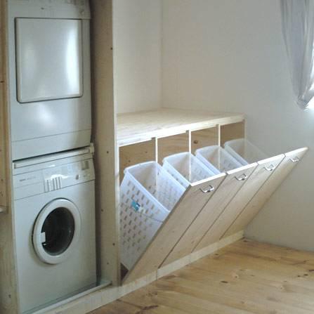Zelf een wasmand ombouw maken met een bouwtekening