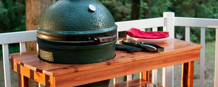 Zelf een big green egg tafel maken van steigerhout lees for Bbq tafel maken