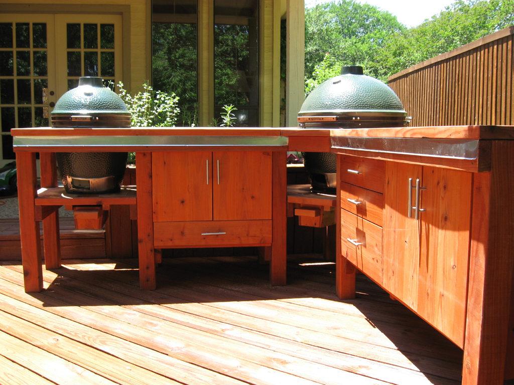 Zelf een Big Green Egg tafel maken van steigerhout