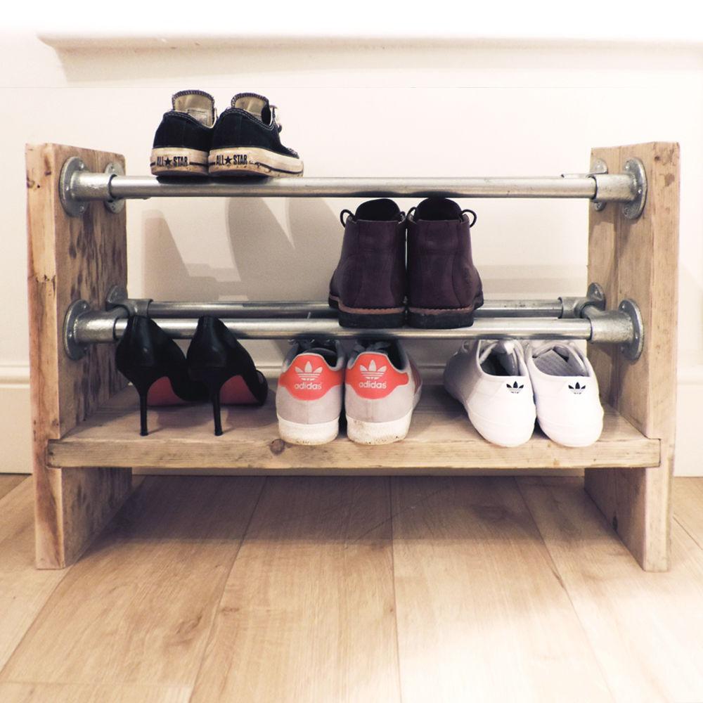 Zelf schoenenrek van steigerhout maken dat kan jij ook for Zelf zoldertrap maken
