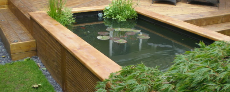 moderne tuin vijver gebouwd