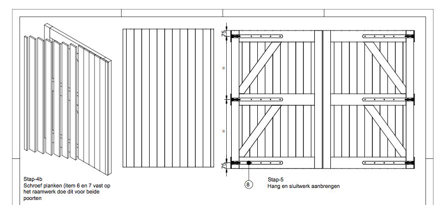 Goede Zelf een houten poort maken met een bouwtekening? Dat kan je nu NL-32