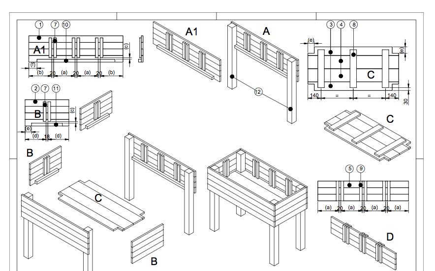 kruidenbak bouwplan