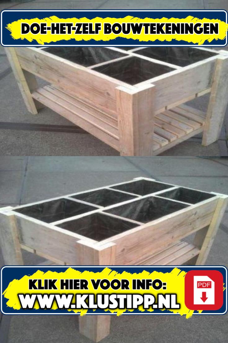 Mooie kruidenbak bouwen op houten poten