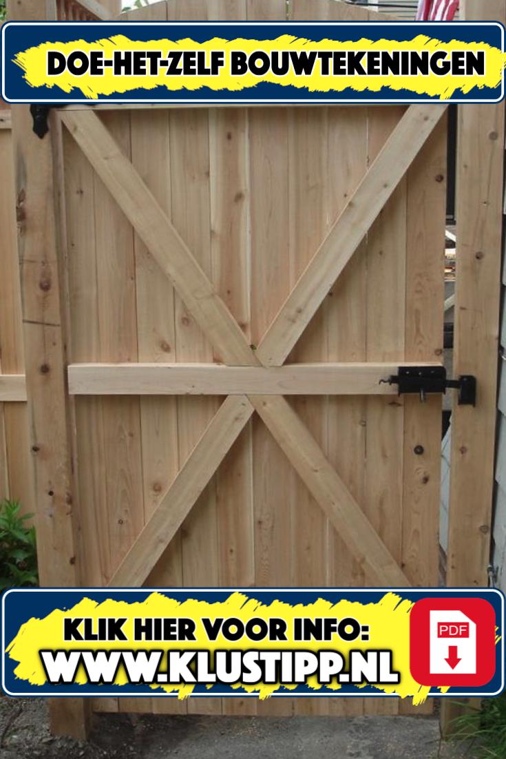 Goede Zelf een houten poort maken met een bouwtekening? Dat kan je nu XQ-29