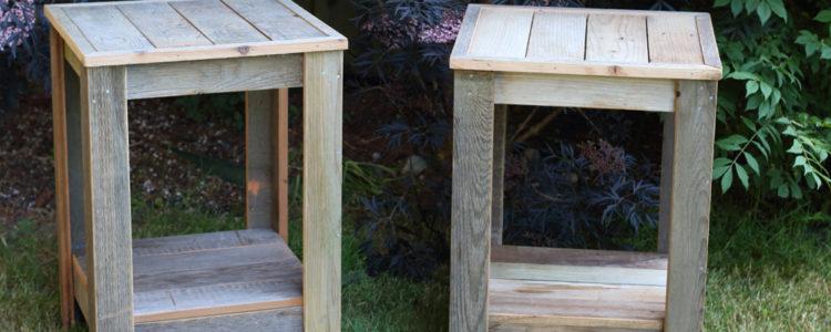 Zelf een bijzettafel maken met een bouwtekening ja lees for Bijzettafel steigerhout