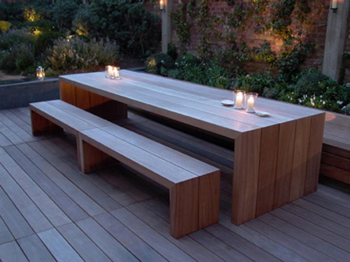 Zelf een tuintafel maken van hout met een bouwtekening for Zelf een tuintafel maken