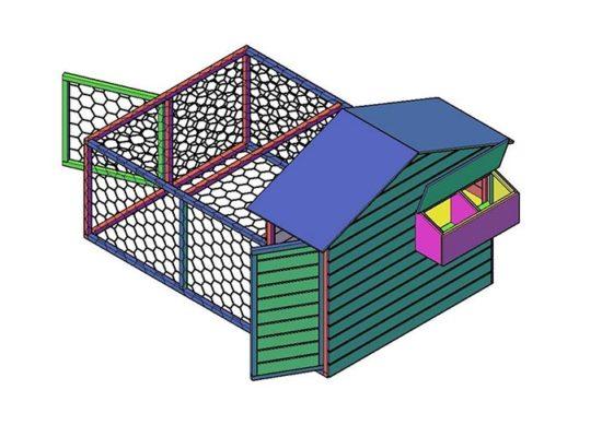 Bouwtekening-kippenhok--bouwen