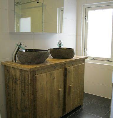Badkamermeubel steigerhout zelf maken