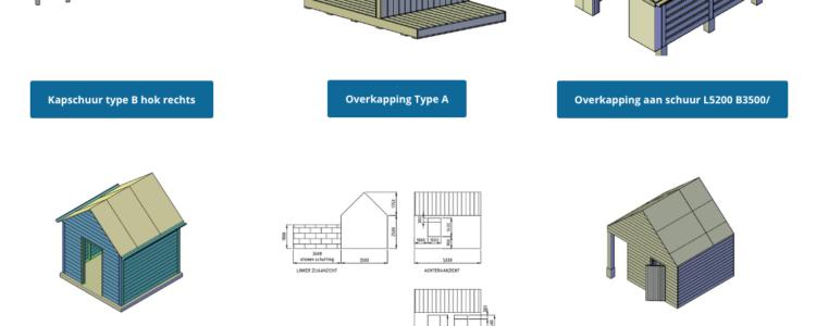 Kun je ook een schuurtje met spits dak bouwen als je weinig ruimte hebt?