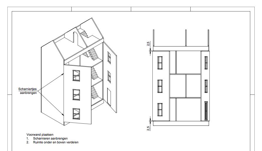 Uitgelezene Zelf een poppenhuis maken met een bouwtekening? Dat kan je zelf WK-28