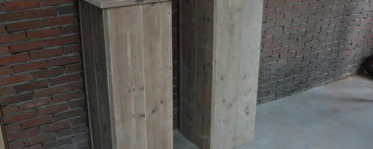 zelf houten zuilen bouwen