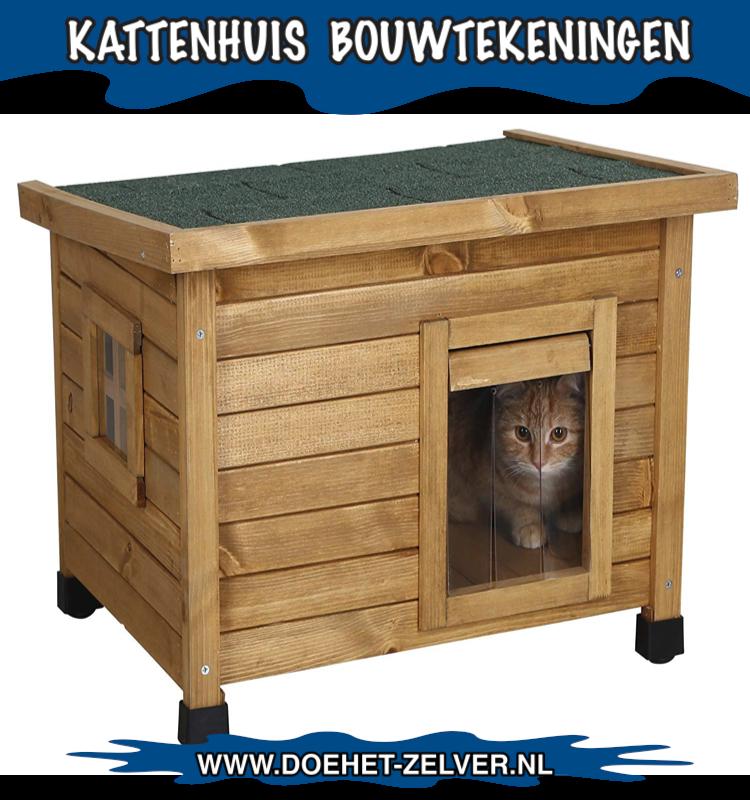 Kattenhuisjes voor buiten met een handige bouwtekening?
