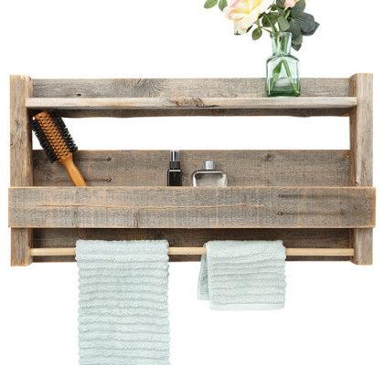 houten badkamerrek zelf maken
