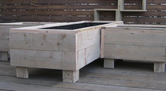 bloembak steigerhout maken