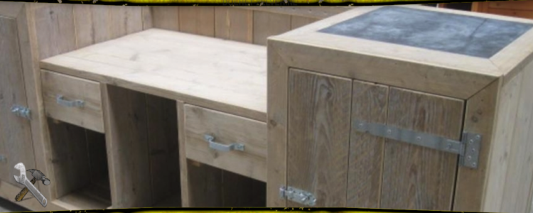 Bedwelming Zelf een buitenkeuken maken van steigerhout? Dat kan! Hoe? Lees meer.. &GE73