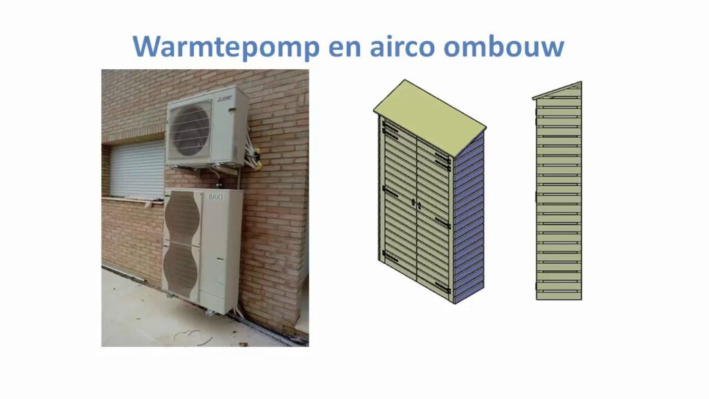 buitenunit airco wegwerken met een bouwplan